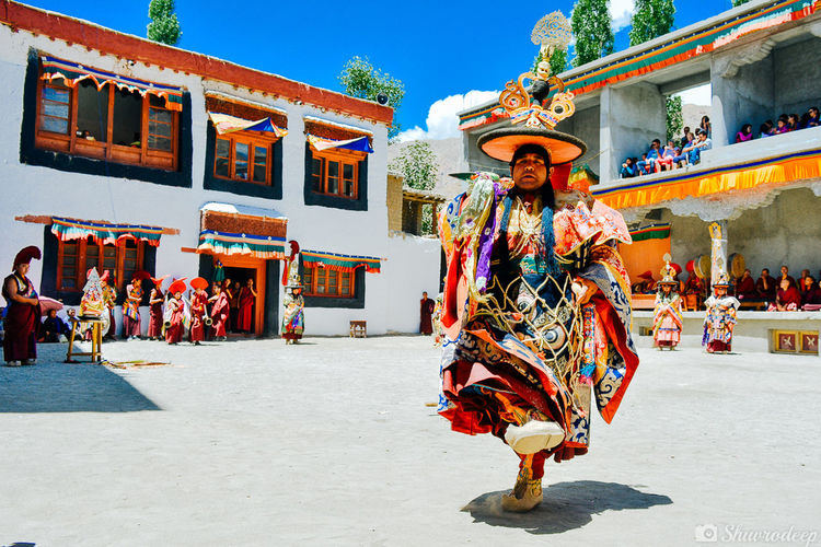 Spirituality Tourist Temple - Building Traditional Tibetan  Tibetan Buddhism Tibet Travel Ladakh India Person Place Of Worship Performance Dance Culture Tradition People And Places Religion
