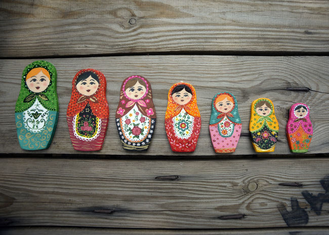 Matroshka Art And Craft Close-up Day Doll Fondant  Fondant Art Fondantfigure Human Representation Indoors  Matroshkadolls Multi Colored No People Russian