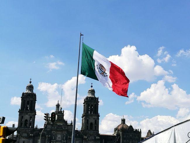 Bandera De Mexico Zocalocdmx TardeSoleada