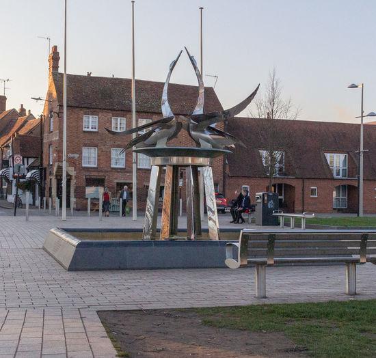Modern Art Outdoors Sculpture Day Swans Metal