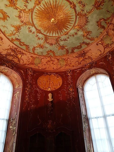 sansouci ceiling of library Sancoussie Castle German Castle Architecture Close-up Architectural Feature