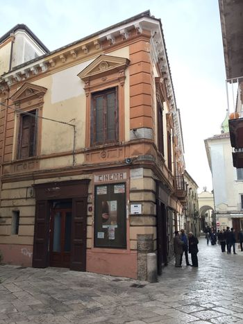 Angles And Lines Antique Architecture Building Exterior Built Structure Cinema City Country Life Culture And Tradition Film Old Buildings Outdoors People Show Sky Square Street Tourism Travel Urban