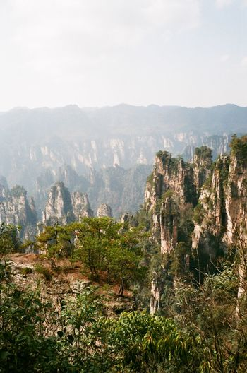 China Nature Outdoors Beauty In Nature Environment Mountain Range Rock Mountain Peak Idyllic Zhangjiajie