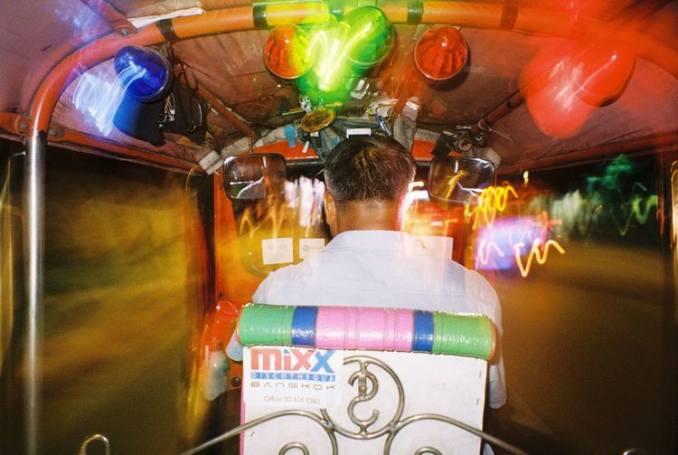 Ways Of Seeing Battle Of The Cities Bangkok Travel Transportation Flash Photography TukTuk Filmphotography Mju Olympus