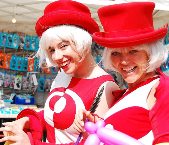 Beautiful Young Woman Day Happiness Real People Red Red Color Red Colour Red Hats Smiling Stockport Stockport Markets Togetherness Two People Two Women Women Women Around The World Women Portraits