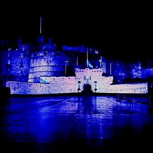 Overnight Success Water Reflection Surface Level Blue Color Illuminated Blue Scotland Scots Monument Photoshoot Photography Castle Edimburgh