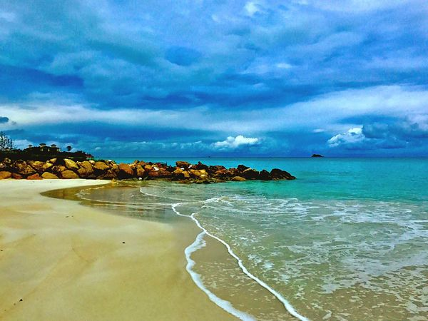 Eye4photography  Sea Sky Scenics Beauty In Nature Cloud - Sky Nature Beach Tranquil Scene Water JeanneRotaMatthews From Where I Stand Chosen Paths Tranquility No People Outdoors Sand Day Travel Destinations