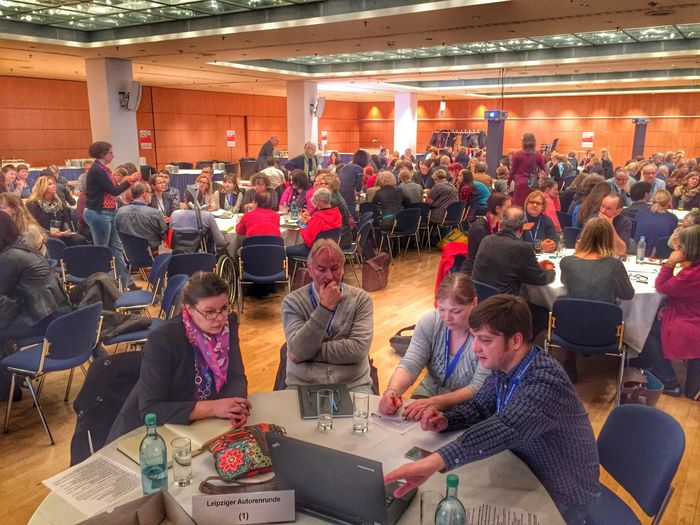 I organized a conference for authors by order of the Leipzig Book Fair with 200+ participants. Great fun. #lar15 #lbm15 At A Conference Networking Book Fair