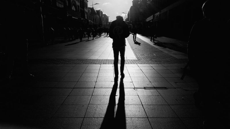 On Southend high street. Silhouette Full Length Shadow Walking One Person Southend Southend On Sea Southendonsea