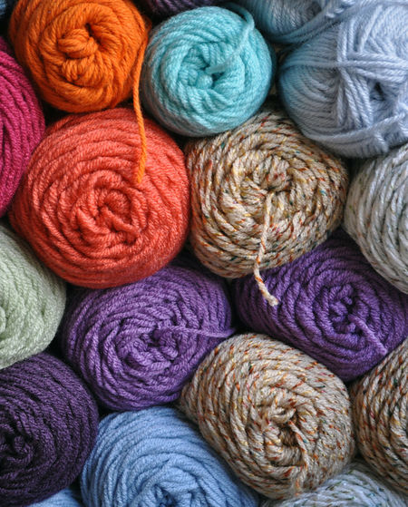 Wool Textile Multi Colored Material Ball Of Wool Full Frame No People Art And Craft Choice Variation Craft Softness Backgrounds Close-up Indoors  Still Life Large Group Of Objects Creativity Collection Purple Yarn Yarns Skein Skeins Knitting