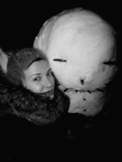 Cheese! That's Me Enjoying Life Blackandwhite Monochrome Snowman Winter Cold Winter ❄⛄ Having Fun Like A Kid