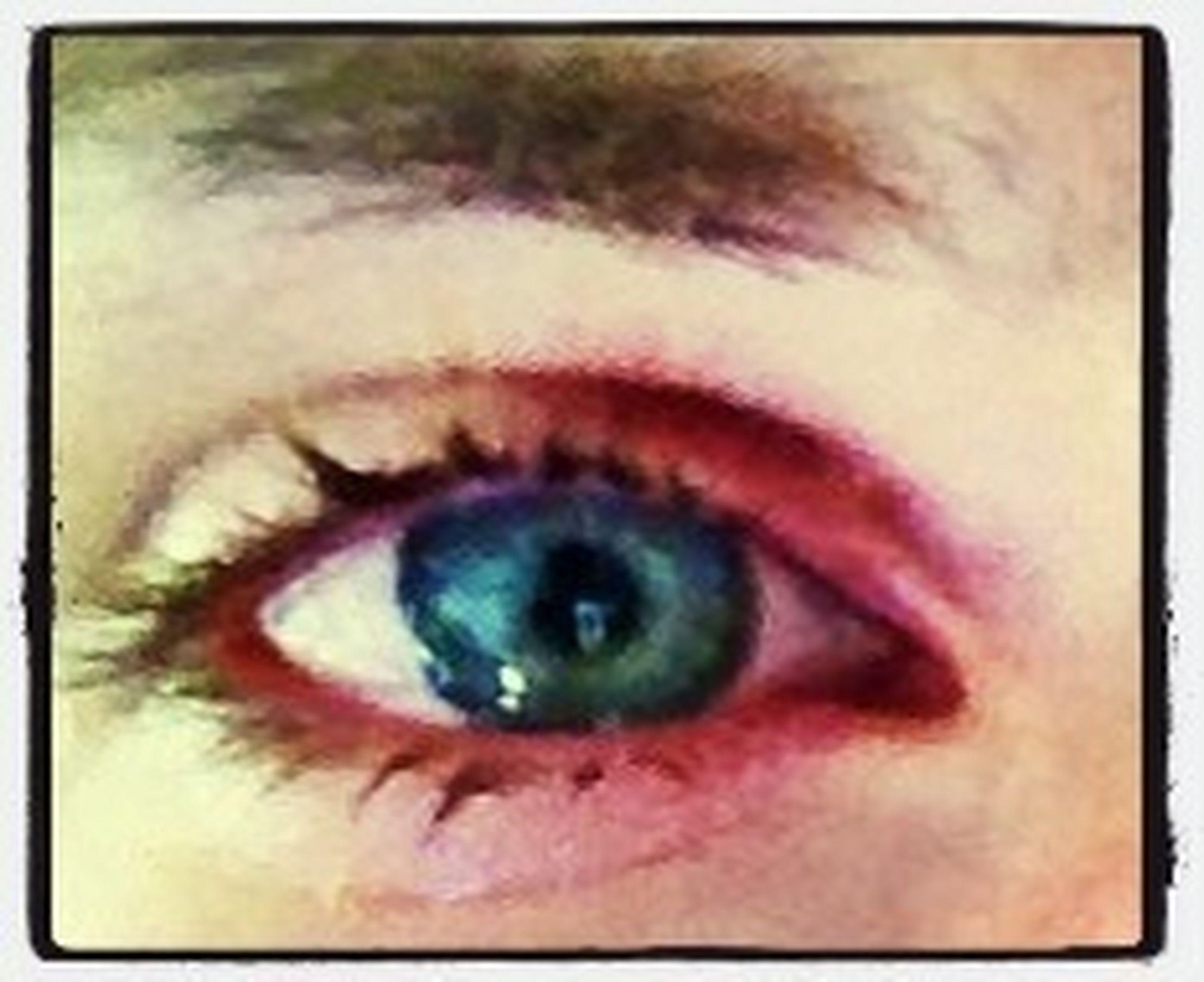 human eye, close-up, eyelash, auto post production filter, eyesight, sensory perception, portrait, looking at camera, transfer print, human face, extreme close-up, indoors, part of, lifestyles, eyeball, iris - eye, human skin