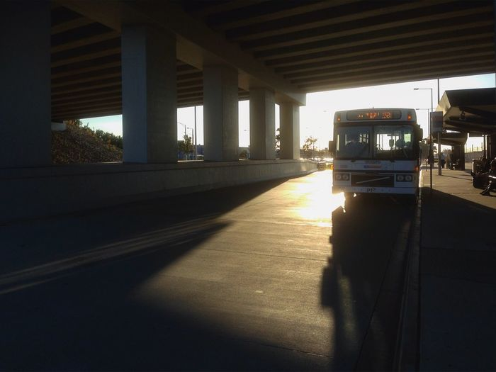 Williams Landing Station Architectural Column Architecture Bridge Built Structure Bus Column Day Dusk Empty Highway Light Light And Shadow Modern Morning No People Road Shadow Sky Sunlight Fine Art Photography 43 Golden Moments The City Light