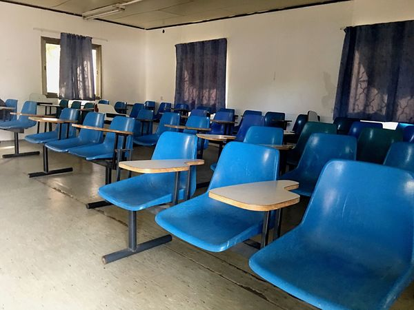 Empty Empty Chair Class Chair In A Row Indoors  University Blue Large Group Of Objects Seat No People Lecture Hall School Room Chairs Student Life Day Israel Design Decoration Classroom Empty Seats Seats Studies Bar Ilan