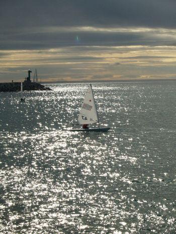 Calm Nautical Vessel Ocean Sailboat Sea Seascape Water Waterfront