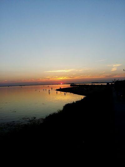 Sunset Netherlands Harderwijk Sunset View Beach Beach Day Boulevard