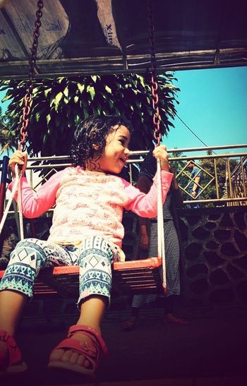 Swing Holiday Children Swing Bluesky The Portraitist - 2015 EyeEm Awards