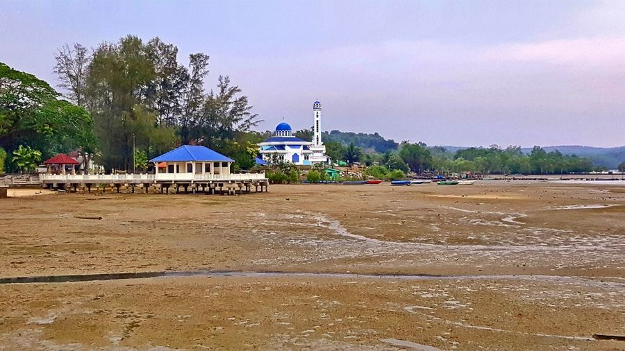 Jetty at Johor, Telok Sengak, Malaysia Scenery Scenics Jetty View Low Tide Revelations Sky Nature Mosque Religion Place Of Worship Built Structure Spirituality