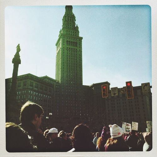 Publicsquare Downtown Cleveland Ohio, USA Womensmarch Unity Equality Freedom Nobannowall WomensRights
