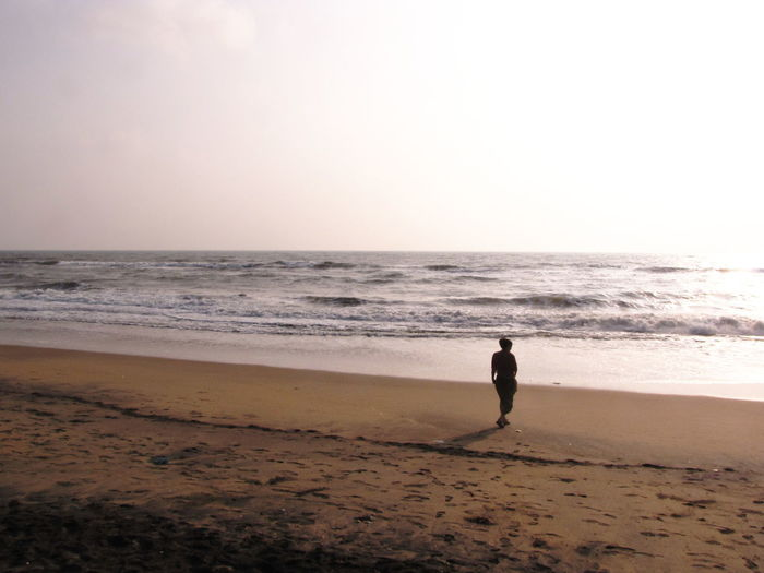 Bay Of Bengal Beach Coastline Getting Away From It All India Ocean Outdoors Pondicherry Sand Scenics Sea Seascape South India Water Wave