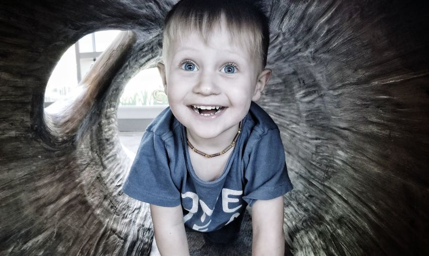 Darryn Doyle Check This Out Toddlerlife Toddlerboy Portrait Child Smiling Childhood Happiness Cheerful Looking At Camera Girls Fun Front View Innocence Toddler  Babyhood Eye Color Only Boys Blue Eyes