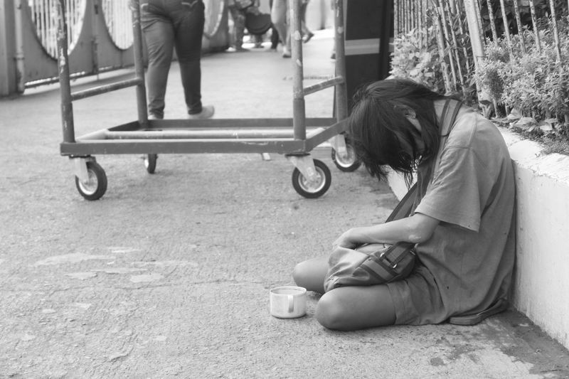 Its never too late Beg Beggar Black And White City Life Day Lifestyles Outdoors Philippines Photography Photography Is My Escape From Reality! Poor  Sad Sadness The Street Photographer - 2016 EyeEm Awards Woman