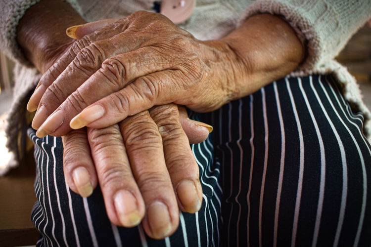 Close-up of hands