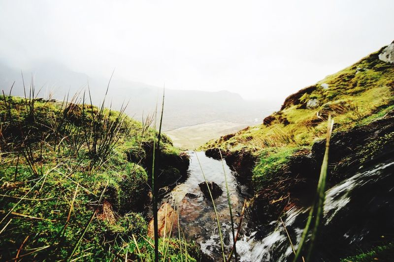 Mountain Beauty In Nature Landscape No People River Grass Great Outdoors Nature Mountain Range Outdoors Rainy Walking Schottland Isle Of Skye