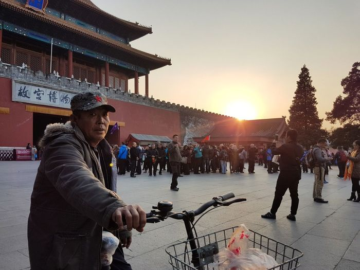 Bicycle Cycling Arts Culture And Entertainment Only Men People Adult Outdoors Men Sunset Young Adult Adults Only City Beijing, China Musician One Person Sky Chinese Day One Man Only Forbidden City