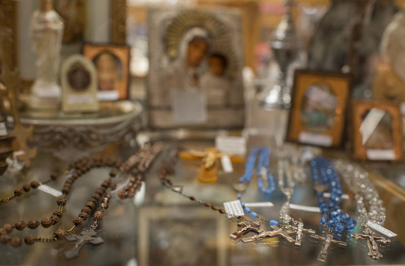 Old crucifix's vintage jewelry Close-up Crucifix Day Indoors  Jewelry Jewelry Store No People Religous Table Vintage