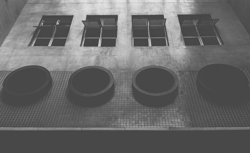 Somewhere EyeEm Best Edits EyeEm Best Shots EyeEm Best Shots - Black + White EyeEm Masterclass EyeEm Selects EyeEm Gallery EyeEmBestPics EyeEmNewHere Air Duct Building Exterior Directly Above Eyeem Market Eyeem Monochrome Eyeen Best Shots - Cityscape Geometric Shape No People Outdoors Pattern Shape Side By Side Wall Window