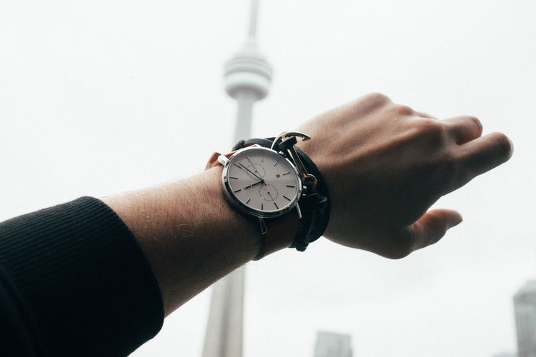 Clock Clock Face Close-up Day Holding Hour Hand Human Body Part Human Finger Human Hand Men Minute Hand One Person Outdoors People Personal Perspective Pocket Watch Real People Roman Numeral Sky Time Watch White Background Wristwatch