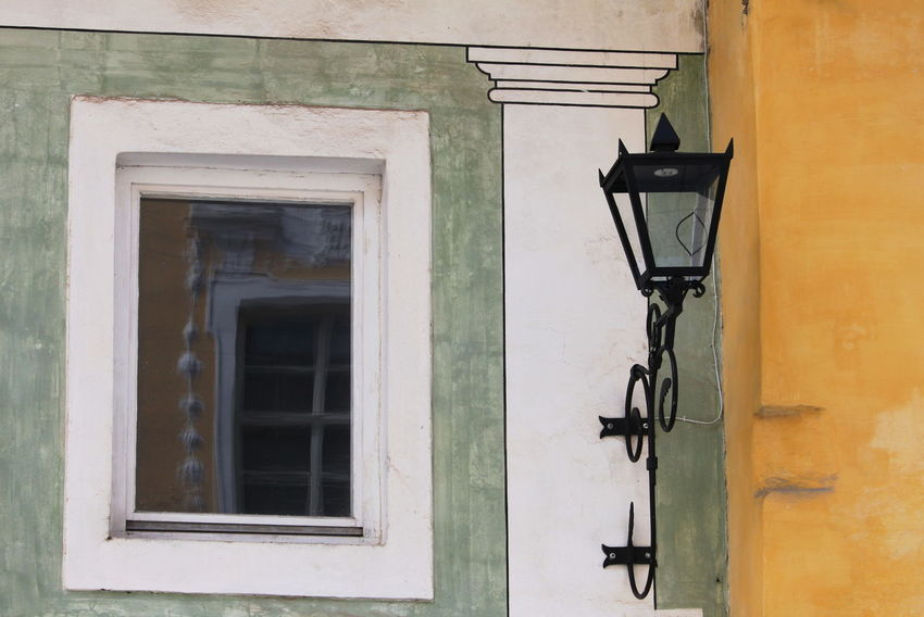 Slovenia Architecture Building Exterior Built Structure Day Glass - Material House Lighting Equipment Outdoors Radovljica September 2018 Wall Window Yellow