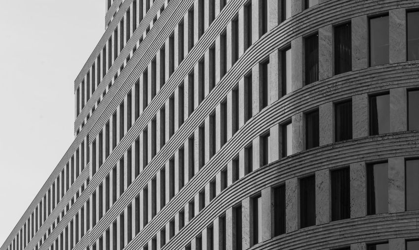 Architectural Feature Architecture Building Building Exterior Built Structure City Design Diagonal Diagonal Lines Directly Below Exterior Fenster Low Angle View Low Angle View Modern No People Office Building Reflection Reflection_collection Repetition Sky Tall - High The Architect - 2016 EyeEm Awards Windows