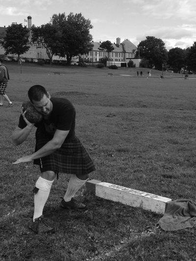 Highland Games Rock Throw