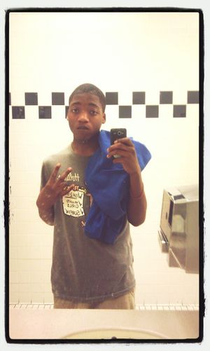 In The Bathroom Takin Pics