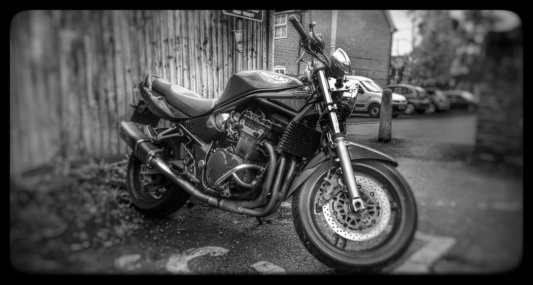 Bandit! Hanging Out Motorcycles My Ride Ride Or Die Blackandwhite Monochrome