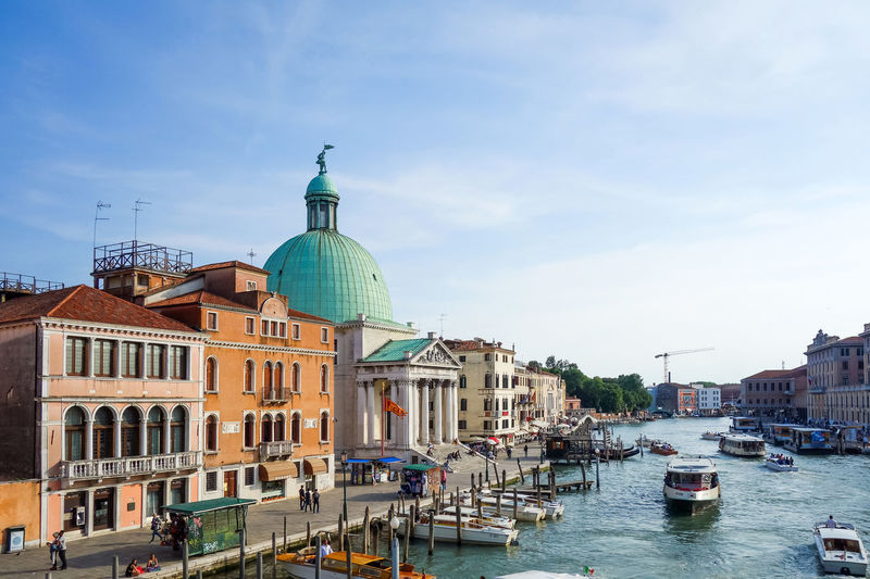 San simeone piccolo by grand canal against sky on sunny day
