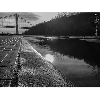 Sunset behind bridge. LGarciaPhotography Eye4black&white  EyeEmbestshots EyeEm Best Edits EyeEm Best Shots - Black + White George Washington Bridge Architecture Street Photography IPhone Cityscapes Contrast Monochrome IPhone Photography Black And White Palisades Interstate Park Eyemphotography EyeEm Best Shots - Nature New Jersey Architecture_collection Black And White Photography EyeEm Bnw Eyeemphotography EyeEmBestEdits Eyem Best Shots First Eyeem Photo