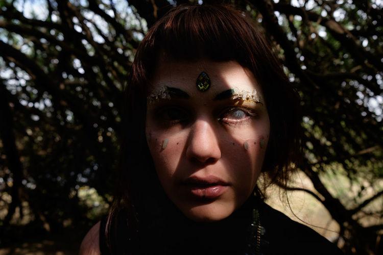 Untitled Capture Tomorrow Young Women Halloween Portrait Women Human Face Evil Headshot Looking At Camera Human Eye Spooky