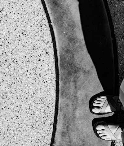 My feet. Walking Around Outdoors Thephotographer Surreptitious Night Tucson Arizona  Photography Eyemphotography Monochrome Black & White Footselfie