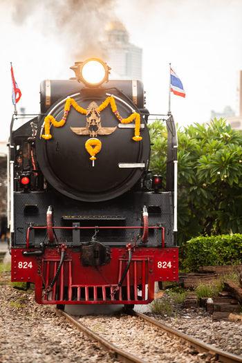 Train on railroad track