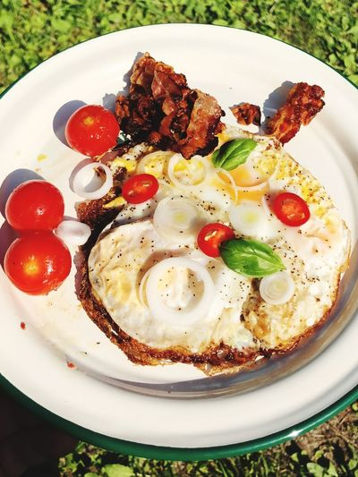 Breakfast Fresh Food Bacon! Bacon&egg Sunny Side Up Eggs... Food Food And Drink Healthy Eating Plate Ready-to-eat Freshness Fruit Wellbeing Meal