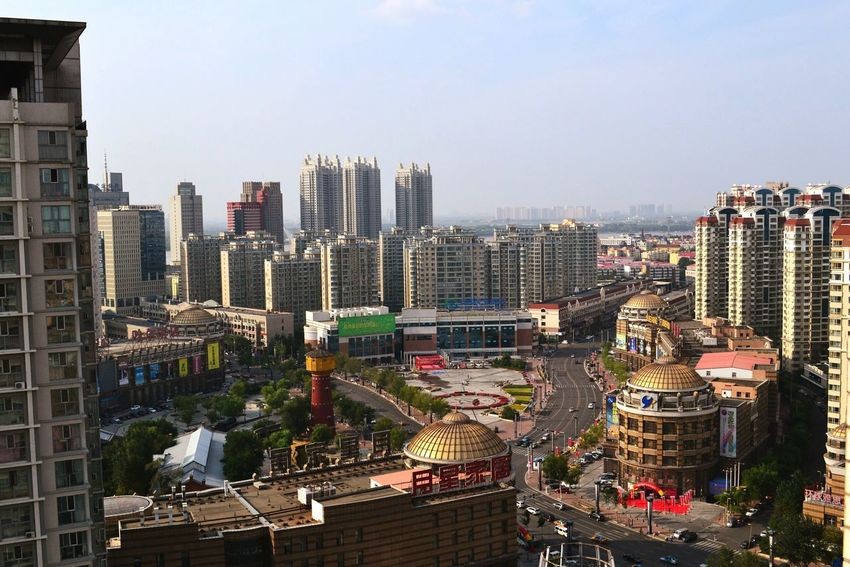 City Skyscraper Cityscape Urban Skyline Sky Architecture Outdoors Business Finance And Industry Building Exterior Illuminated Travel Destinations Downtown District City Life No People Modern Futuristic Harbin China In My Eyes China China Photos Day EyeEmNewHere