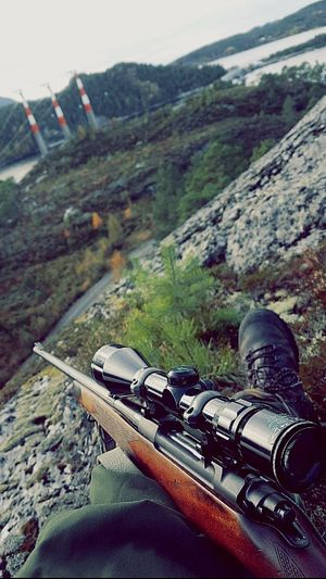 Hunting Hunter Rifle Brno Roedeer Alfa Dovre Mountain Nature Landscape Beauty In Nature Scenics Outdoors Norway Idyllic Tustna EyeEmNewHere The Ocean Tranquility Tranquil Scene Beautiful Tree Mountain Range Sunlight And Clouds Tourism