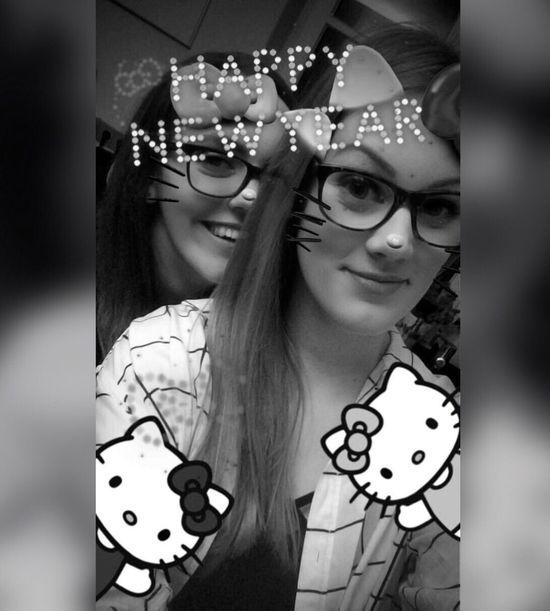 Happy New Year 2017 NYE Hello Kitty Cute Bestie  🍀💫🍾💖