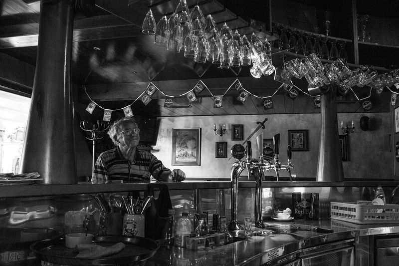 People Pub Bar Indoors  Drinks Portrait Soul Frozen Moments Capture Life Lifestyles Classic The Week On Eyem Man Places I've Been Bnw Bw Monochrome Bnw_life Black And White Bw_collection Krigl Slovenia Ljubljana Modern Workplace Culture This Is Aging