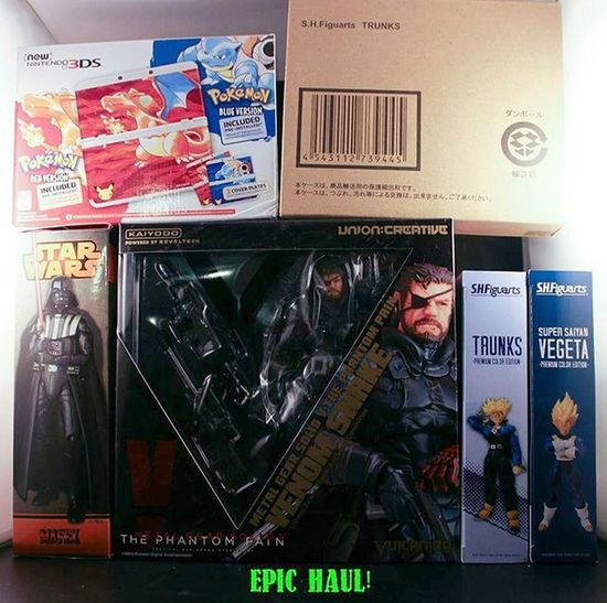 Recently acquired this huge haul that deserves a few shout outs. First Bigbadtoystore for the Snake and SHF PCE Trunks/Vegeta. Been wanting that Snake for awhile. Gotta thank @animeetc4ever for the Mafex Vader. Came in quick and the price was great. Got the 3DS from Target and finally thanks to @dbz_figures for the awesome deal on OG SHF Trunks.
