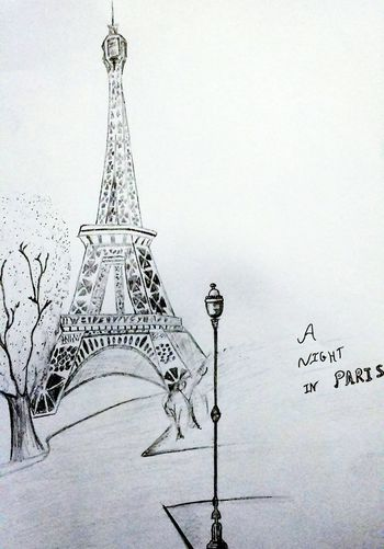 Make It Yourself Draw Pencil Drawing Draw By Me Paris Paris❤ Paris, France  TourEiffeil Eifelltower Drawing