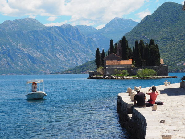 Our Lady Of The Rocks PERAST Vacations Beauty In Nature Greenfiords Island Os Saint George Lifestyles Mountains And Sky Mountains And Water People Real People Scenics Svetidorde Travel Destinations